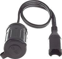 Optimate SAE aansluitplug female 12V 50 cm zwart