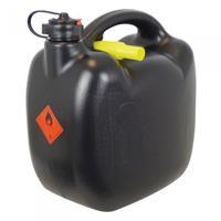 Carpoint jerrycan met flexibele vulslang 10 liter kunststof zwart