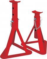 Carpoint assteunen 2 ton staal rood 2 stuks