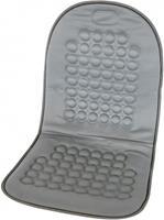 Carpoint stoelkussen met bolletjes 90 x 45 cm grijs