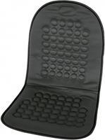 Carpoint stoelkussen met bolletjes 90 x 45 cm zwart