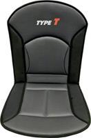 Carpoint stoelkussen Type T 90 x 45 cm zwart/grijs