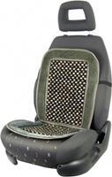 Carpoint stoelkussen met houten kralen 90 x 45 cm zwart/grijs