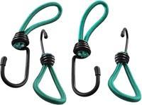 ProPlus elastieken lus met haak 16 cm groen 4 stuks