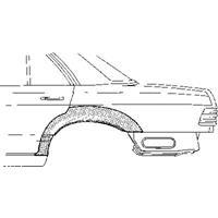 mercedes-benz PLAATWERKDEEL WIELRAND ACHTER 4-deurs R