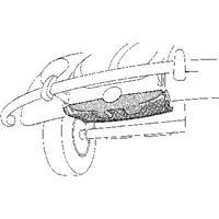 Volkswagen Oversizedeel Kever Reservewielbak Voor