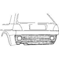 Volkswagen Plaatwerkdeel Olf19 83- Plt Ond Achbump