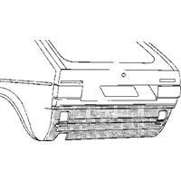 Volkswagen Oversizedeel 17 74-84 Pl Ond Achbumper