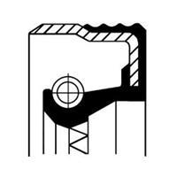 Dichtingsring, aandrijfas (oliepomp) CORTECO, Voorkant