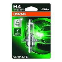 Gloeilamp H4 Ultra Life 60/55W [12V] (1 st.) OSRAM, H4, 12 V