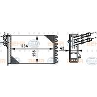 Kachelradiateur, interieurverwarming HELLA