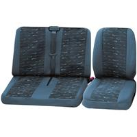 cartrend 79-4020-01 Autostoelhoes 4-delig Grijs Bestuurder, Dubbele stoel