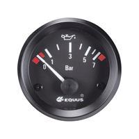 Equus 842095 Inbouwmeter (auto) Oliedrukweergave Meetbereik 0 - 7 bar Standart Geel, Rood, Groen 52 mm