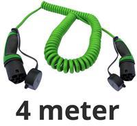 Ratio Laadkabel type 2 naar type 2 - coiled - 1 fase 16A - 4 meter
