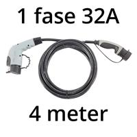 Ratio Laadkabel type 1 - 1 fase 32A - 4 meter
