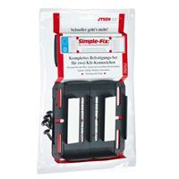 SSDN kentekenplaathouders Simple Fix 12 cm zwart 4 stuks