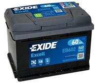 ford Exide Accu Excell EB602 60 Ah