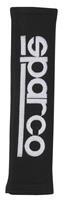Sparco gordelhoezen 28 x 6,5 cm alcantara zwart 2 stuks