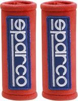 Sparco gordelhoezen 12 x 5 cm microvezel rood 2 stuks