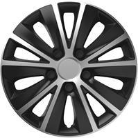 4-Delige Wieldoppenset Rapide Silver&Black 14 inch