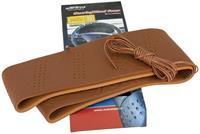 AutoStyle stuurhoes met veter universeel kunstleer bruin 3 5 cm