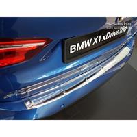 RVS Achterbumperprotector BMW X1 (F48) M-Pakket 2015-Ribs'