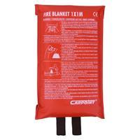 Carpoint blusdeken 1 x 1 meter fiberglas rood