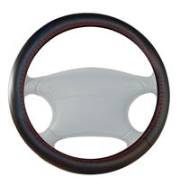 Simoni Racing Stuurwielhoes Trophy - 37-39cm - Zwart Leder + Rode stiksels