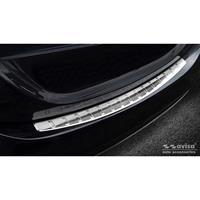 mercedes-benz RVS Achterbumperprotector passend voor Mercedes C-Klasse W205 Sedan 2014-2019 & 2019-Ribs'