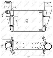 Intercooler, inlaatluchtkoeler NRF