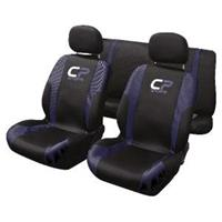 carpoint Stoelhoesset 9-delig 'CP Sports' blauw airbag 10241