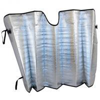 Carpoint zonnescherm voorruit 130 x 60 cm aluminium zilver