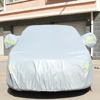 PVC anti-stof zonbestendige sedan autohoes met waarschuwingsstrips, geschikt voor auto's met een lengte tot 4,5 m (176 inch)