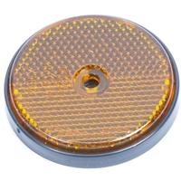 Huismerk Reflector rond 60mm oranje