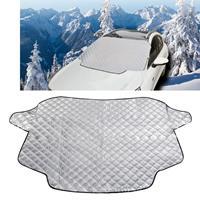Auto voorruit Cover Sneeuwhoes Plus Katoenen autoruit Zonnescherm Winter Auto Sneeuwschild Cover, willekeurige kleuraflevering