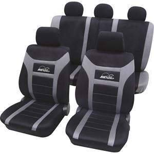 hpautozubehör HP Autozubehör 22916 Autostoelhoes Polyester Antraciet Bestuurder, Passagier, Achterbank