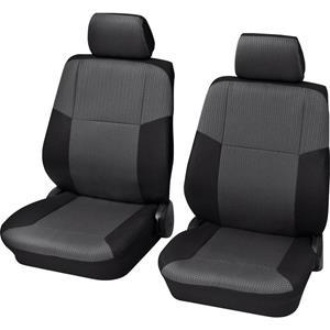 hpautozubehör HP Autozubehör 22304 Schonbezug Sylt VS 4tlg. Autostoelhoes 4-delig Polyester Zwart Bestuurder, Passagier
