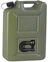 Brandstof jerrycan plastic 20L 16,5 x 35 x 49,5 cm