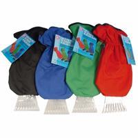 Alrides IJskrabber met groene handschoen