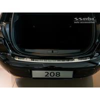 Avisa RVS Achterbumperprotector passend voor Peugeot 208 II HB 5-deurs 2019- 'Ribs' AV235482