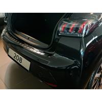 Avisa Zwart RVS Achterbumperprotector passend voor Peugeot 208 II HB 5-deurs 2019- 'Ribs' AV245240