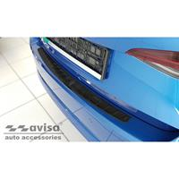 Avisa Zwart RVS Achterbumperprotector passend voor Skoda Octavia IV Liftback 2020- 'Ribs' AV245250