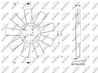 NRF Koelventilatorwiel 49812