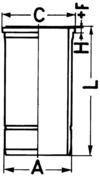 KS Kolbenschmidt Cilindervoering 89878110