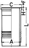 KS Kolbenschmidt Cilindervoering 89826110