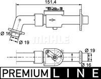 Mahle Regelklep koelvloeistof CV6000P