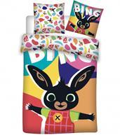 Bing dekbedovertrek Happy Bunny 100 x 135 cm katoen