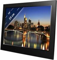 Braun Phototechnik Digitale fotolijst 25.4 cm 10 inch 1024 x 600 Pixel Zwart