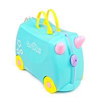 Trunki Ride-On eenhoorn Una koffer blauw 46 x 30 x 21 cm