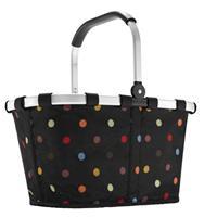 Reisenthel Carrybag Boodschappenmand - Polyester - 22L - Dots Zwart